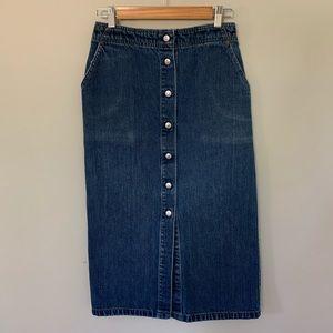 Vintage Levi's button down skirt